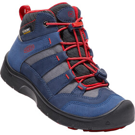 Keen Hikeport Mid WP Shoes Youths Dress Blues/Firey Red